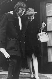 Actress and singer Judy Garland, with her husband Mickey Deans, leaving the Ritz Hotel, London, December 30th 1968. (Photo by Express/Archive Photos/Getty Images)