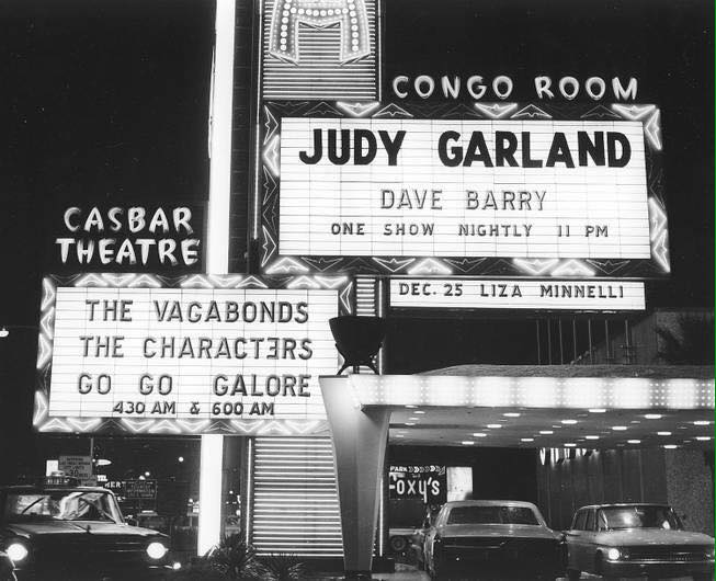 November 30, 1967 Vegas marquees