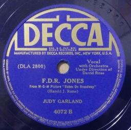 fdr jones - judy garland - decca 4072