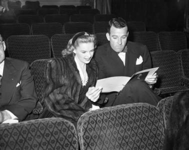 january-30,-1944-judy and roger edens at film premiere