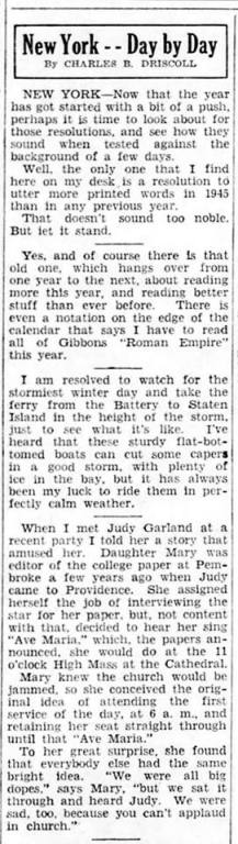 january 4, 1945 article ave maria