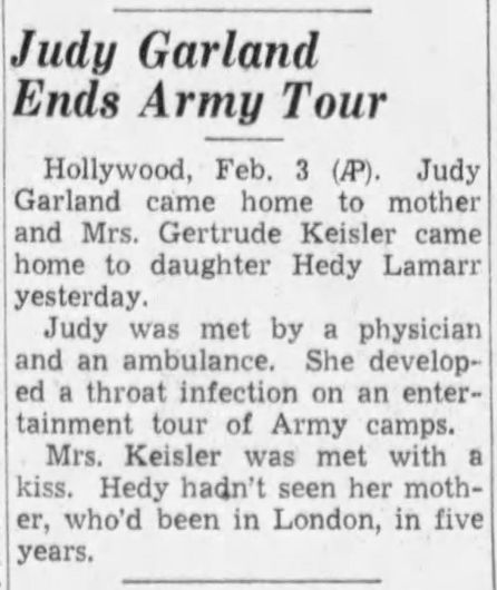 February 3, 1942 (for February 2) HOME FROM USO TOUR The_Tampa_Times