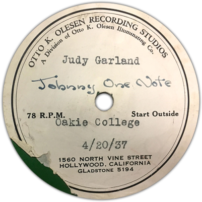 Johnny-One-Note-Label