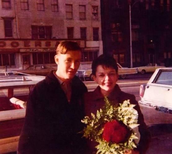 Judy and fan 1966 Lowell MA